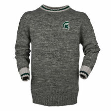 Bruzer Michigan State Spartans Gray Work Sock Crew Neck Sweater