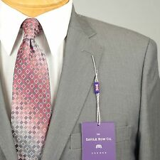 40R SAVILE ROW Solid Grey SUIT SEPARATE  40 Regular Mens Suits - SS22
