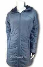 New womens Columbia $140 Morning Lite Omni Heat repellent long jacket coat GRAY