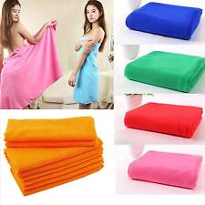 Absorbent Fiber Bath Beach Towel Shower Gym Swimming Drying Washcloths 11 Colors