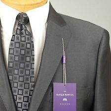 46R SAVILE ROW Charcoal Grey SUIT SEPARATE  46 Regular Mens Suits - SS25