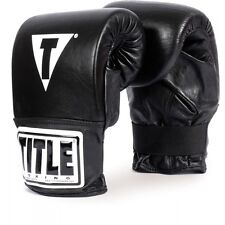 Title Boxing Traditional Style Pro Bag Gloves Heavy Bag mma muay thai black