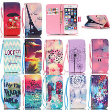 For Apple Iphone 4/5/6/ 6s/6plus PU Leather Credit Card Holder Wallet Case Cover