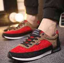Spring Mens Lace Up Causal Canvas Breathable Shoes Hit Color Fashion Sneakers