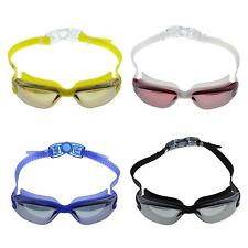Adults UV Shield Anti-Fog Eyewear Swimming Diving Goggles Glasses with Earplug