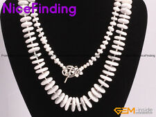 8-18mm 8-12mm 14-18mm Rondelle White Howlite Handmade Necklace Fashion Jewelry