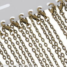 Wholesale HX Bronze Tone Textured Chain Necklace 0.8mm thick 24""