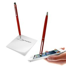 BIG STYLUS DUAL FUNCTION CAPACITIVE RED TOUCH PEN FOR VARIOUS MOBILE PHONES