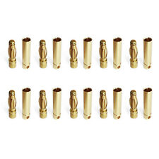 5/10Pairs 4mm Gold  Bullet Banana Plug Male Female Connectors for RC Toys