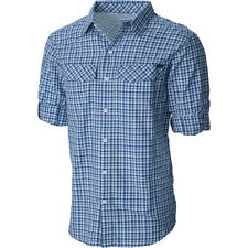 Columbia Silver Ridge Plaid Mens Shirt Long Sleeve - Night Tide Ripstop