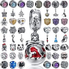 925 sterling silver charm bead for european charms bracelet necklace chain AU x1