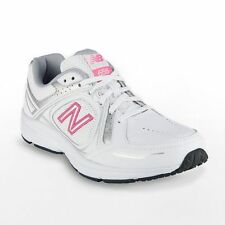 NEW WOMEN'S NEW BALANCE 655 HEALTH WIDE WALKING SHOES!!! IN WHITE / PINK!!!