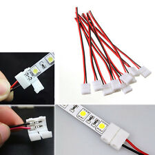 10x PCB Connector Cable 2 Pin LED Strip Connector 3528/5050 Adapter Useful Newly