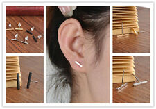 New 2 Punk Women Simple Tiny Bar fashionable Earrings Stud Cute Bar Earring Stud