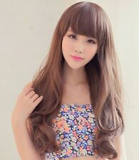 Fashion Cosplay Wig Womens Lady Long Curly Wavy Hair Full Wigs Costume Party Wig