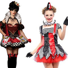 Sexy Woman Queen Of Hearts Fancy Dress Poker Hen's Fairy Tale Party Outfits S/M