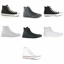 Converse Chuck Taylor Hi Leather Mens Womens Ladies Unisex Trainers