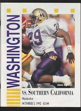 1992 NCAA Football Game Program Washington Huskies VS USC Trojans