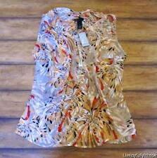 LANE BRYANT ~ New Plus 20 22 24 or 26 ~ Floral CASACADE RUFFLE Chiffon Shell Top