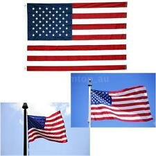 New 3x5 4X6 5X8 FT USA US U.S. American Nylon Flag Polyester Stars Grommets D1Z1