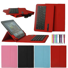 "Wireless Bluetooth Keyboard PU Leather Case For 7 7.9 9.7 10 10.1""inch Tablet PC"