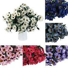 Artificial Fake Daisy Cineraria 3-Fork Flower Home Upholstery Decor Rustic Foral