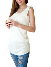 Scoop Neck Sleeveless Stretchy Tank Tunic Shirt Top for Women