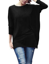 Women Pullover Design Raglan Sleeve Soft Tunic Top