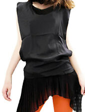Ladies Scoop Neck Sleeveless Pullover Summer Loose Top Shirt
