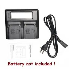 Dual  LCD Screen Battery Charger for Sony NP-F770 NP-F750 NP-F570 NP-F550 NP-330