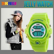 Child Boy Girl Kids LED Digital Sports Multifunction Waterproof Wrist Watch X7O9