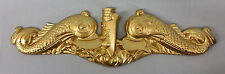 HUGE USN US NAVY SUBMARINE WARFARE INSIGNIA SUBBY GOLD SILVER DOLPHINS