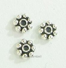 20x 925 BALI Sterling Silver DAISY SPACER Beads