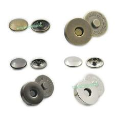 "Round Magnetic snap Double Rivet Clasp Stud Button Fastener 14mm 9/16"" 18MM 3/4"""