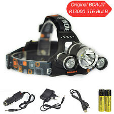 Rechargeable 12000LM 3*XML T6 LED Headlamp Hunting Torch Flashlight 18650 Charge