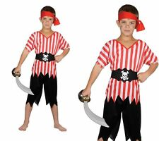 High Seas Pirate Kids Pirate Fancy Dress Costume Boys Outfit Age 3-5 Years