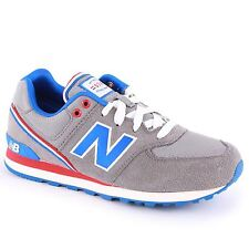 New Balance Classic Traditionnel Grey Blue Youths Trainers