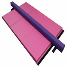 8ft Purple Low Profile Suede Gymnastics Beam and 4x6x2 Pink Mat Combo