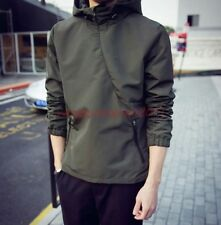New Spring Fashion Mens Thin Jackets Coats Slim Fit Casual Hooded Jackets Size
