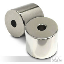 23mm x 20mm with 6mm Hole Strong Round Nickel Magnets Grade N35 Neodymium NdFeB