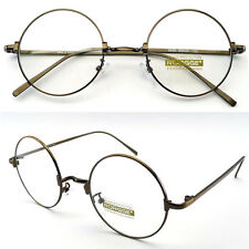 Classic Round Sunglasses Eyewear Metal Frame Clear Lens Glasses Spectacles