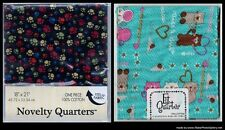 FQ, Assortment Cat & Paw Print Quilting Fabric Sold by Fat Quarter 100% Cotton