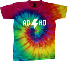tie dye t-shirt ADHD funny saying shirt tie dyed tee shirt