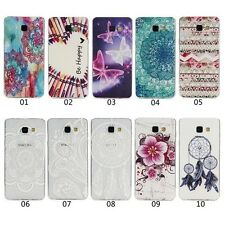 1X Slim Flower Totem Soft TPU Gel Clear Cover For Samsung LG Huawei Back Case
