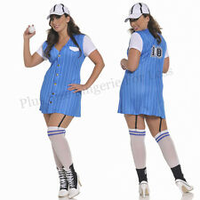 Plus Size One Size 1/2X or 3/4X Third Base Baseball Costume  STM10302X