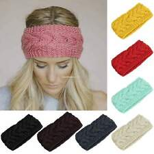 Winter Women Ear Warmer Headwrap Fashion Crochet Headband Knit Flower Hairband