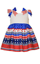Bonnie Jean Girls Red White Blue Star Patriotic 4th of July Dress 12M 18M 24M