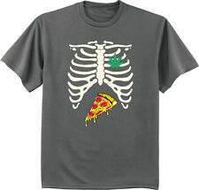 pot leaf pizza skeleton tee shirt stoner cannabis weed pot funny t-shirt for men