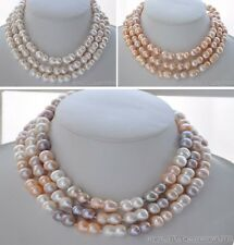 "X0385 50"" peanut DOUBLE BAROQUE FRESHWATER PEARL NECKLACE"