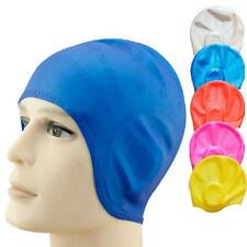 2016 New Unisex Adult Silicone Swim Swimming Hat Cap One Size Fit All Wholesale